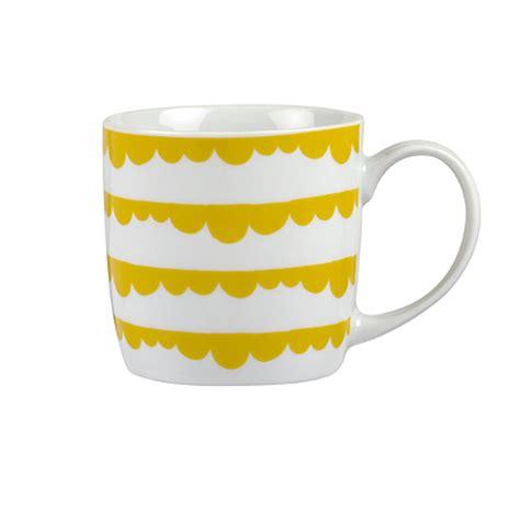 Design Own Mug Asda | george home yellow scallop mug kitchen asda direct