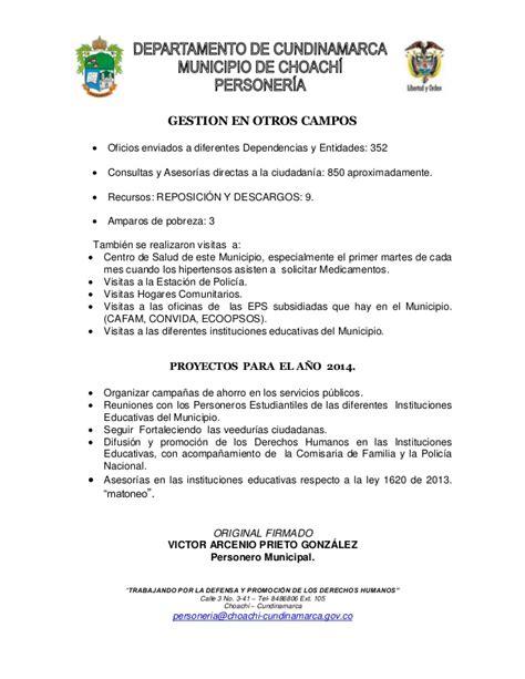 informe mller informe de gesti 243 n personer 237 a municipal 2013