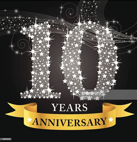 10 year anniversary color 10th anniversary vector getty images