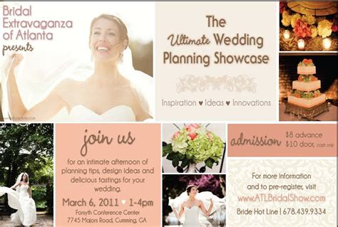 Bridal Show Giveaway Ideas - the ultimate wedding planning showcase presented by bridal extravaganza of atlanta
