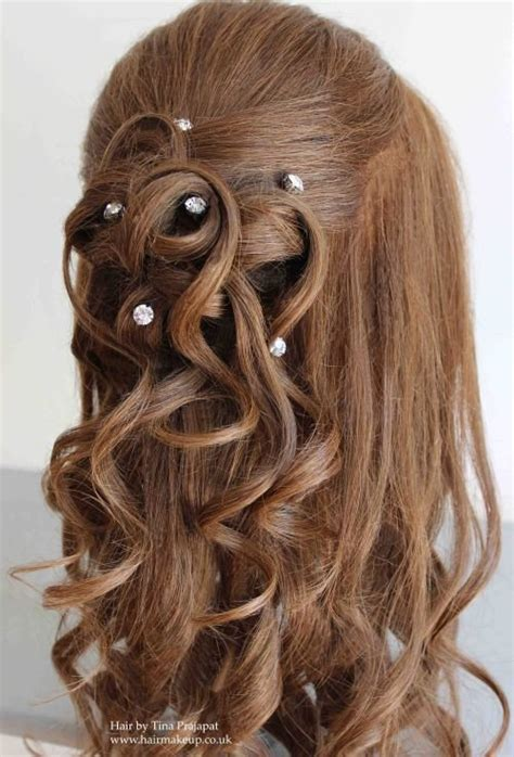 curls half up half down hairstyles medium length hair 37 half up half down wedding hairstyles anyone would love