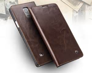 Leather Covers by Original Qialino Slim Real Leather Samsung Galaxy Note 4