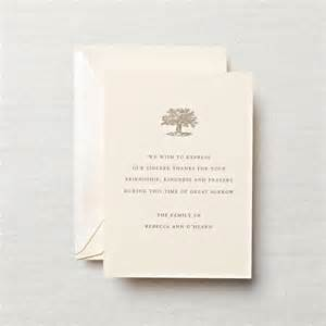 personalized letterpress sympathy acknowledgement card sympathy crane