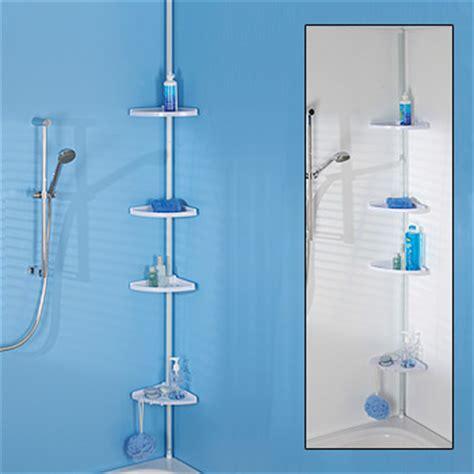 floor to ceiling shower caddy adjustable telescopic corner shower bathroom 4 shelf