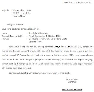 Contoh Surat Izin Tidak Masuk Sekolah Karena Sakit by Contoh Surat Izin Tidak Masuk Sekolah 91