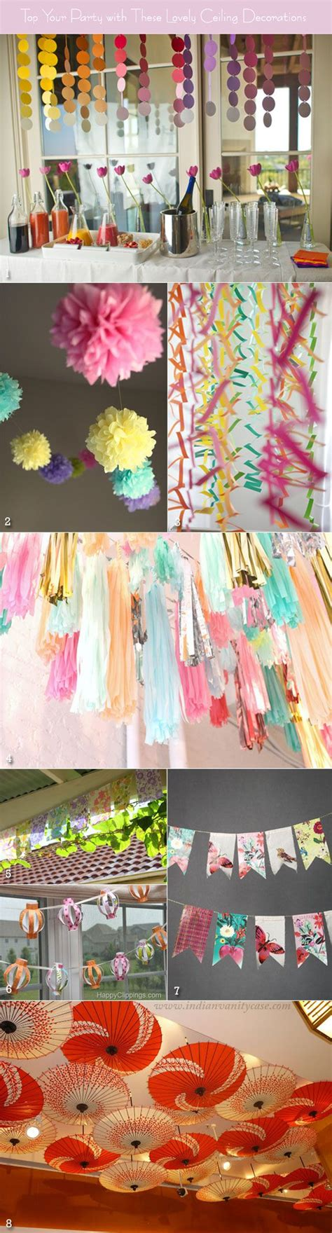 ceiling decorations decorate for parties pinterest ceiling decorations to glam up your spring wedding shower