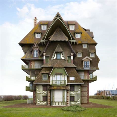 crazy houses surreal and weird houses designs using photo montage