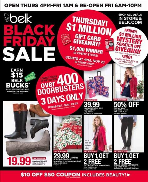Gift Card Black Friday 2017 - belk 2017 black friday ad frugal buzz