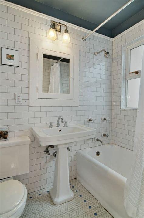 vintage subway tile bathroom subway tile hex tile abound in this vintage bathroom of