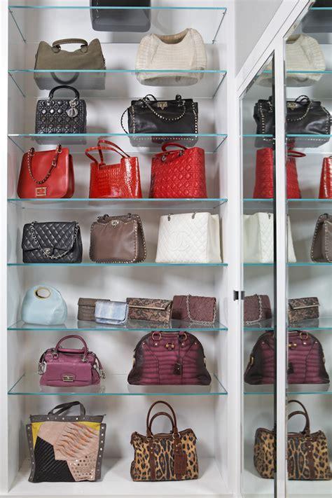 Glass Closet Shelves by Baroque Purse Rack Fashion Los Angeles Modern Spaces