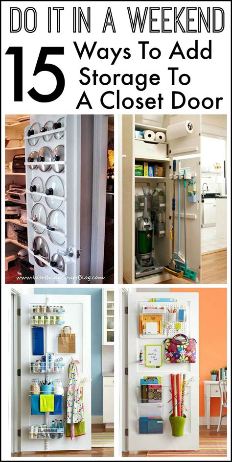 Back Of Closet Door Storage 15 Ways To Use The Back Of A Closet Door For Storage And