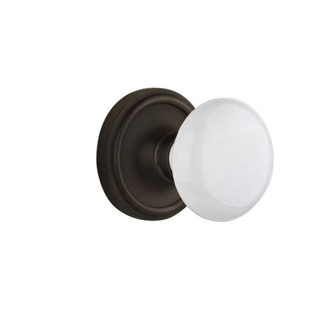 Nostalgic Warehouse Classic Rosette Interior Mortise White Interior Door Knobs Rubbed Bronze
