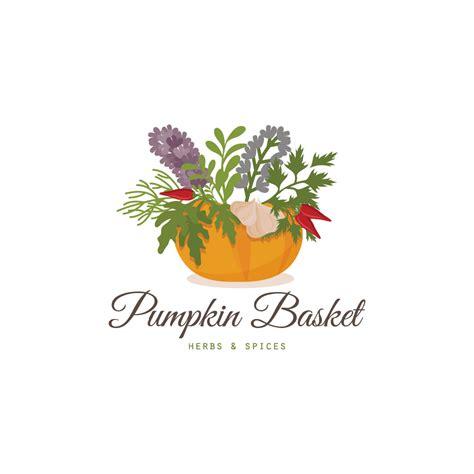 Dalia Kitchen Design Pumpkin Basket Herbs And Spices Logo Design Logo Cowboy