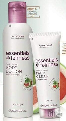 oriflame essential fairness lotion and scrub