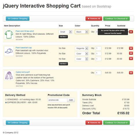Jquery Interactive Shopping Cart By Jaguarus Codecanyon Jquery Shopping Cart Templates