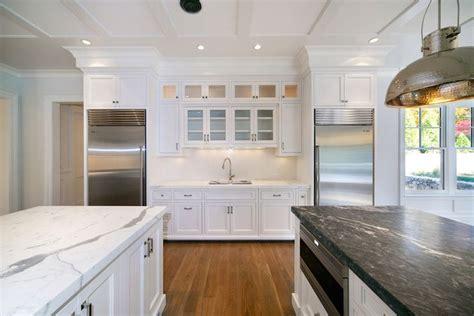 Blue Water Home Builders   kitchens   built in fridge
