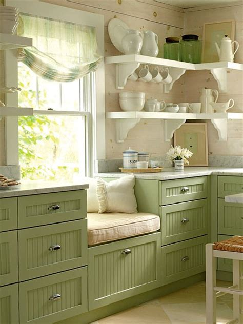 Green Kitchen Cabinets by Colored Kitchen Cabinets Blogher
