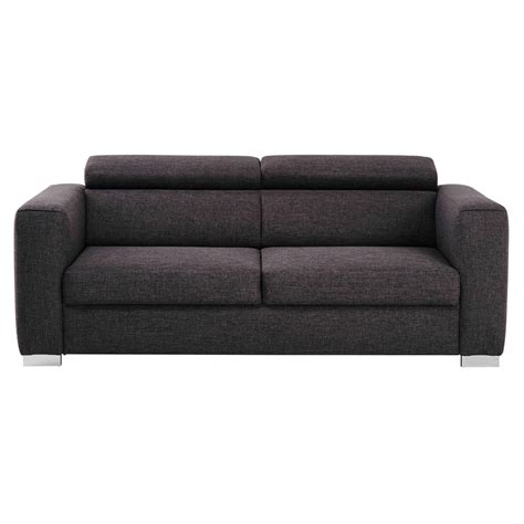 heather grey sofa 3 seater fabric sofa in heather grey jazz maisons du monde
