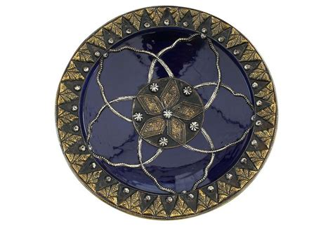 Moroccan Decorative Wall Plates by Moroccan Wall Plate W Silver Inlay