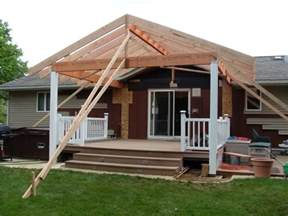 covered deck mobile home porch ideas pinterest