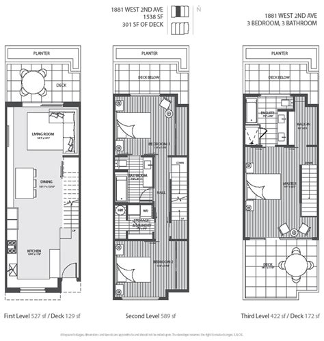 modern townhouse floor plans new vancouver condos for sale presale lower mainland