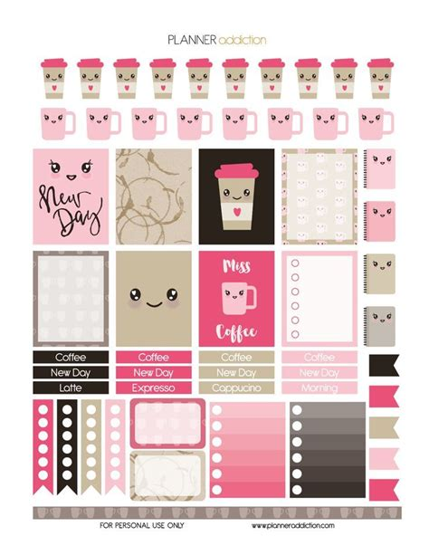 Galerry free printable planner sticker sheets