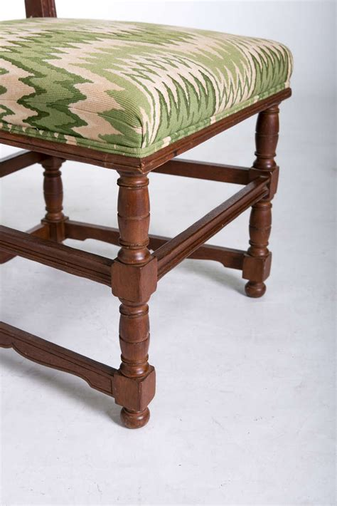 pair of tudor style side chairs at 1stdibs