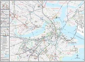 Map Of Downtown Boston by Boston Downtown Transport Map Mapsof Net