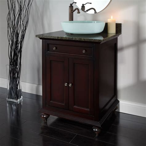 24 Vanity Cabinet With Sink by 24 Quot Merlot Vessel Sink Vanity Bathroom