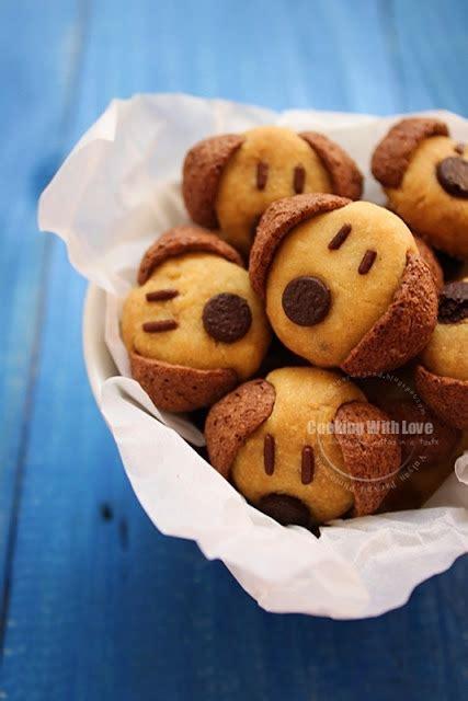 Brown Cookies Kardigan Lucu cooking with cereal doggies cookies