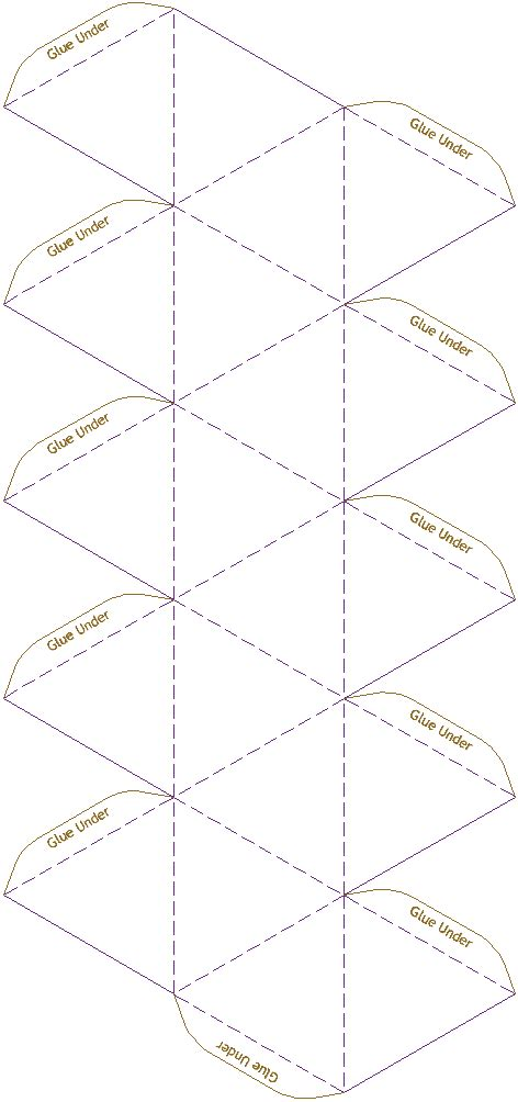 icosahedron model template