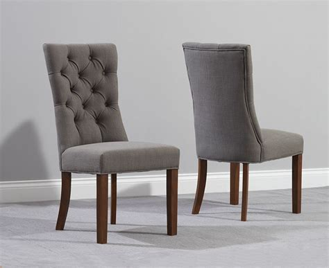 anais grey fabric oak leg dining chairs fantastic