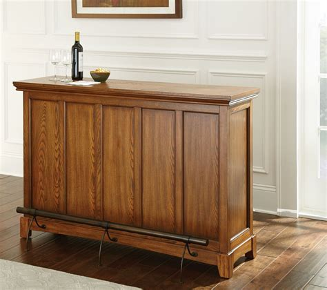 Oak Bar Counter Martinez Oak Counter Bar From Steve Silver Mz560bk