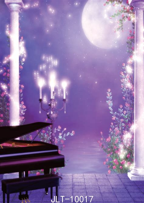 purple dream photo background piano candle backdrop water