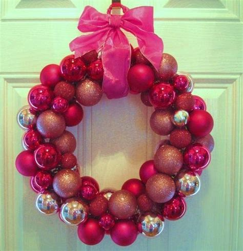 in his grip pink christmas ball wreath repost