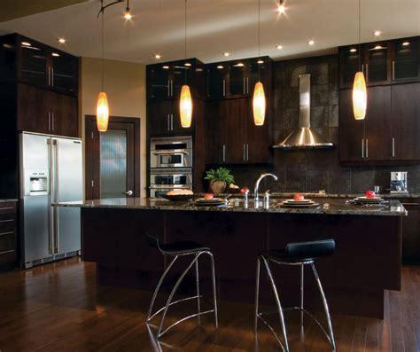Modern Kitchen Cabinets in Espresso Finish   Kitchen Craft
