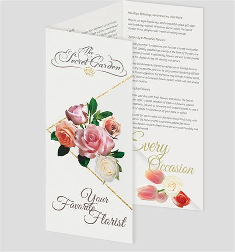 Wedding Florist Brochure by Florist Brochure Templates Free Psd Vector Eps Jpg