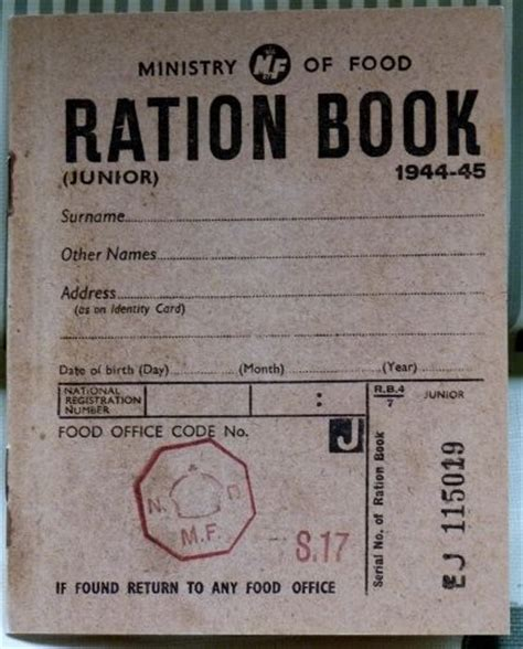 world war 2 in pictures book ration book replica ww11 ration book world war 2