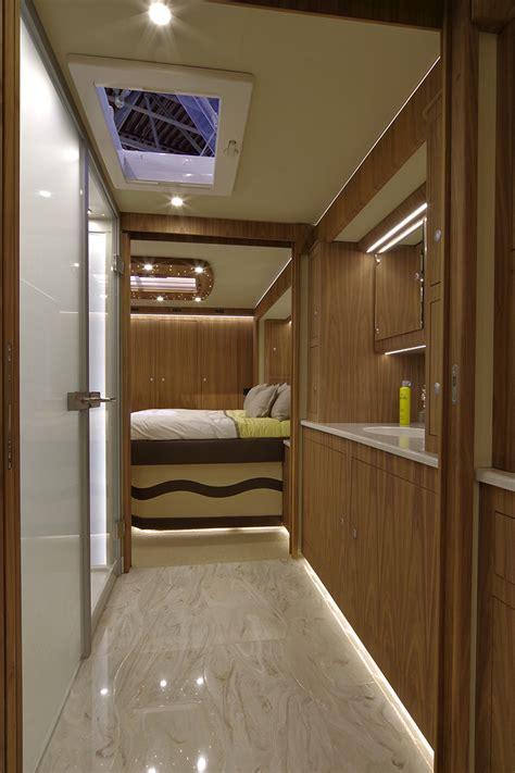 volkner mobil luxury motorhome features  built  garage
