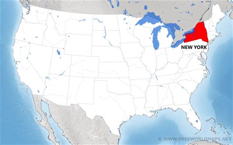 new on the map where is new york located on the map