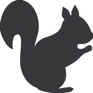Squirrel silhouette squirrel flock appliqu 233 apply templates
