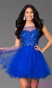 Short sleeveless beaded lace prom dress promgirl