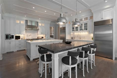 kitchen with 2 islands kitchen with 2 islands transitional kitchen blue water home builders