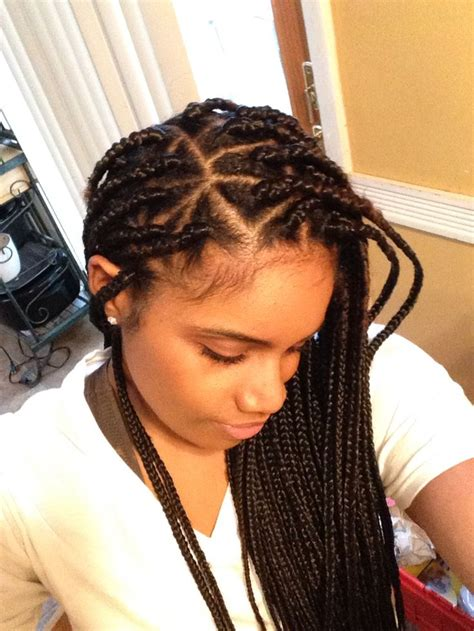 triangle parts natural hair triangle part braids my style pinterest triangles