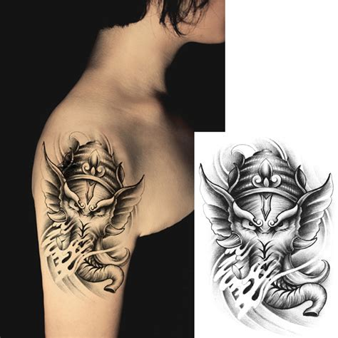 sexy women tattoos for men temporary tattoos large elephant arm transfer