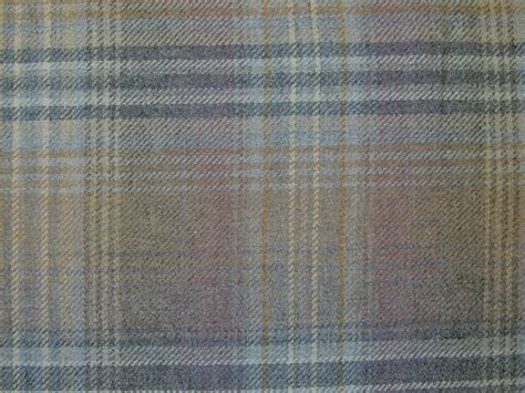 upholstery tartan curtain fabric wool tartan mauve grey check plaid tweed