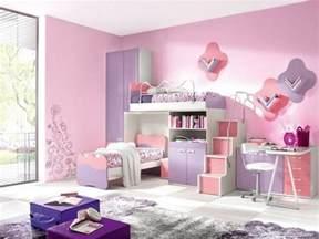 Idee Deco Chambre Enfant Garcon #2: 2idee-deco-chambre-fille-peinture-chambre-enfant-en-rose-et-violet-lits-superposés-aemoire-bureau-espace-de-rangement-idée-mignonne.jpg