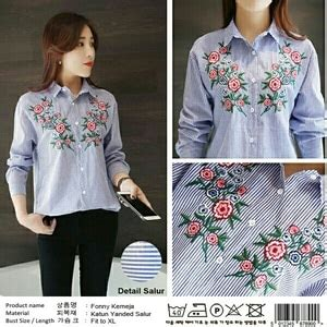 Blouse Baju Cewek Kemeja Murah Hem Megumi Hitam Sw Atasan Wanita R ryn fashion belanja puas harga pas