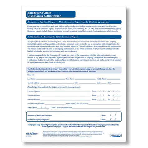 Form For Background Check Background Check Authorization Release Form Images