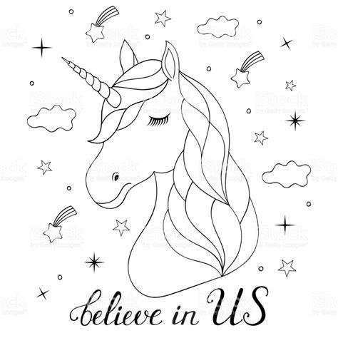 imagenes unicornios para dibujar cabeza de unicornio dibujado mano arte vectorial de